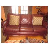 Ethan Allen Tufted Leather Sofa Ethan Allen Coffee & End Tables