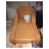 Wicker Outdoor/Indoor Chaise Lounge