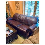 Ethan Allen Tufted Leather Sofa