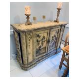 Peter Andrews Hand Painted Credenza Sides open For Storage