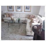 Beautiful Fabric Alabaster Sectional Sofa