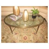 Barbara Barry Designs Glass & Antique Brass Accent Table