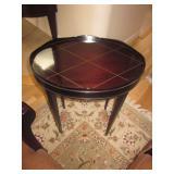 Barbara Barry Designs Mahogany Side Table Oval