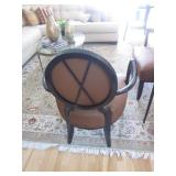 Barbara Barry For Baker Furniture Oval X-Back Dining Side Chairs PAIR