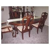 Stunning Dining Room Suite with China Cabinet 3 Light Setting