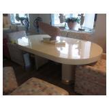 Custom Goat Skin Dining Room Table Custom Dining Room Seating