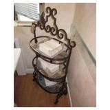 Accent 3 Tier Iron & Glass Shelving