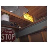 Vintage Trumpet Street Signs ~ License Plates