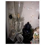 Vintage Prism Boudoir Mantle Lamps