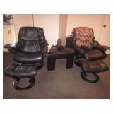 Pair Leather Recliner