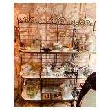 Stunning Brass and Marble Bakers rack and so much more