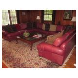Natuzzi Leather Sectional Sofa ~ Many Rugs To Choose From