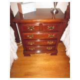 Dixie Mahogany Bedroom Suite With Two Twin Beds