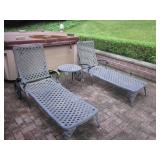 Large Iron Patio Suite 8 Chairs Vintage Outdoor Patio Suite Outdoor Lounge Chairs Bakers/Flower Rack