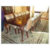 Stunning Thomasville Dining Room Suite Complete with 8 Upholstered Chairs