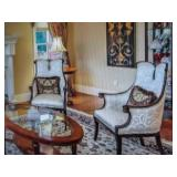 Simply Beautiful Newly Upholstered Fireside Chairs