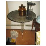Acrylic Table Base With Brass Tray Top