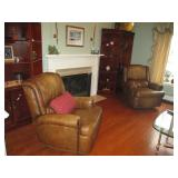 Bradington Young Leather Tufted Recliners (two)