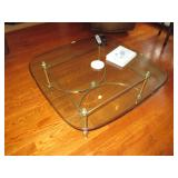 Glass & Brass Table