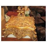 Accent Decor Gold Gilt Trinket Boxes