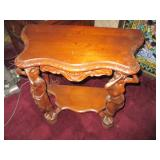 Hand Carved Goddess Inspired Accent Table