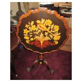 Marquetry Italian Inlaid Tilt Top Table