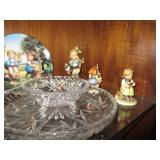 Large Hummel Collection & Crystal Service Pieces