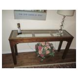 Stylish Glass Top Console Table