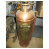 Vintage Copper & Brass Floafome Fire Extinguisher