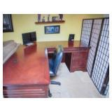Desks, Chair, Privacy Screen