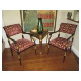 Stunning Par Of Gold Accent Arm Chairs (Not table)