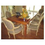 Dining Room Refectory Table and 6 Chairs
