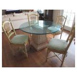 NY Kriss Table Base and 4 chairs (glass not included)