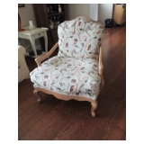 Pair Kreiss Fabric Arm Chairs So Comfortable
