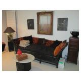 Black Wicker Sofa Tons of Accent Decor Furniture Separates