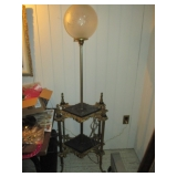 Stunning Brass & Marble Globe Table Lamp