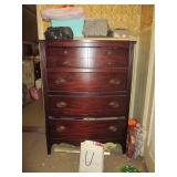 Flame Mahogany Dresser