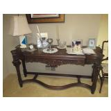 Stunning Ornate Carved Sofa/Card Table Opens with Felt Inside