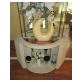 Ornate Half Moon Accent Table