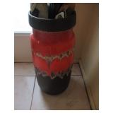 Mid-Century Drip Glaze Large Vase/Umbrella Stand
