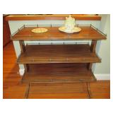 Antique Oak Server Dessert/Sideboard, 3 Tier Buffet