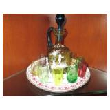 Vintage Shot Glasses & Decanter