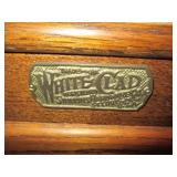White Clad Vintage Antique Oak Ice Box