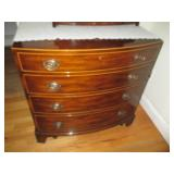Mahogany Antique Dresser with Pull Out Leather Writing Desk