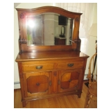 Antique Art Deco Mirrored Back Antique Sideboard