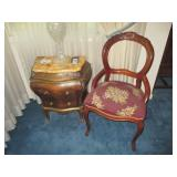 Small Bombay Chest~ Victorian Transitional Tapestry Seat Chair