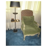 Vintage Lamp Table & Arm Chair Seating