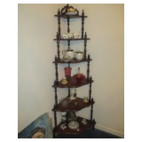 Corner Display Shelves and all the collectibles
