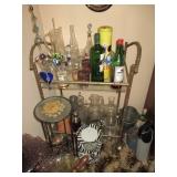 Bar Needs/Brass Serving Cart