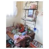 Oak Desk & Wall Display